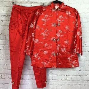 A Mandarin Hong Kong Original Chinese pant suit